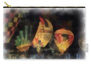 Night Glowing Hot Air Balloons Photo Art Carry-all Pouch
