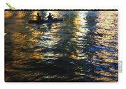 Night Kayak Ride Carry-all Pouch by Margie Hurwich