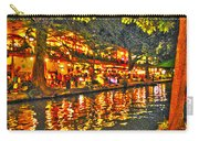 Night Life By The River Walk Carry-all Pouch