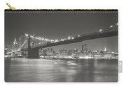 Night - New York City - Brooklyn Bridge Carry-all Pouch