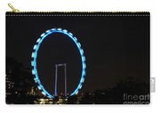 Night Shot Of The Singapore Flyer Ferris Wheel At Marina Bay Carry-all Pouch