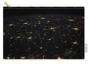 Night Time Satellite Image Of Cities Carry-all Pouch