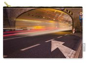 Night Traffic Light Trails In Warsaw Carry-all Pouch