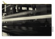 Night Train Black And White Carry-all Pouch