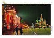 Night View Of Gum And Saint Basil Cathedral In Red Square In Moscow-russia Carry-all Pouch