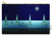 Night Walk Of The Penguins 2.5 Carry-all Pouch
