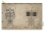 Nikola Tesla's Electrical Generator Patent 1894 Carry-all Pouch