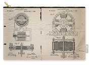 Nikola Tesla's Magnetic Motor Patent 1888 Carry-all Pouch