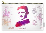 Nikola Tesla Patent Art Apparatus For Aerial Transportation  Carry-all Pouch