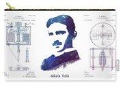 Nikola Tesla Patent Art Electric Arc Lamp Carry-all Pouch