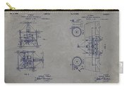 Nikola Tesla's Aerial Transport Patent 1928 Grunge Gray Carry-all Pouch