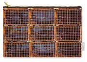 Nine Orange Lobster Traps Carry-all Pouch by Stuart Litoff