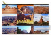 Nine Utah Landmarks Carry-all Pouch by Catherine Sherman