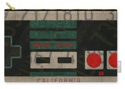 Nintendo Controller Vintage Video Game License Plate Art Carry-all Pouch
