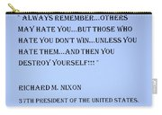 Nixon Quote In Cyan Carry-all Pouch