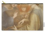 No. 1011 Study For The Bower Meadow Carry-all Pouch by Dante Gabriel Charles Rossetti