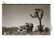 Joshua Tree National Park Landscape No 4 In Sepia  Carry-all Pouch