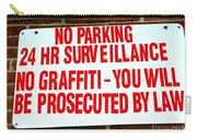 No Graffiti Carry-all Pouch