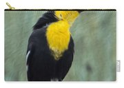 Yellow-headed Blackbird Singing Carry-all Pouch