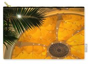 Sunshine Yellow Silk Decor With Stars Carry-all Pouch