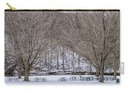 Snowy Picnic Ground In Winter Carry-all Pouch