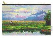 Nomad - Alaska Landscape With Joe Redington's Boat In Knik Alaska Carry-all Pouch