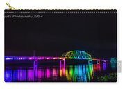 Norbert F. Beckey Bridge In Rainbow Lighting Carry-all Pouch