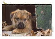 Norfolk Terrier Puppy By Barn Door Carry-all Pouch