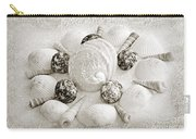 North Carolina Circle Of Sea Shells Bw Carry-all Pouch