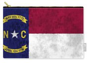 North Carolina Flag Carry-all Pouch by World Art Prints And Designs