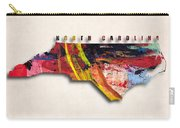 North Carolina Map Art - Painted Map Of North Carolina Carry-all Pouch