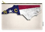 North Carolina Map Art With Flag Design Carry-all Pouch