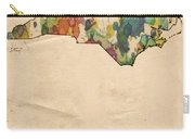 North Carolina Map Vintage Watercolor Carry-all Pouch