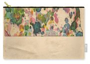 North Dakota Map Vintage Watercolor Carry-all Pouch
