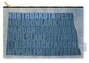 North Dakota Word Art State Map On Canvas Carry-all Pouch by Design Turnpike