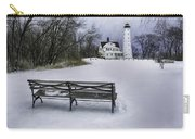 North Point Lighthouse And Bench Carry-all Pouch