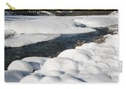 North Saskatchewan River In Winter Carry-all Pouch