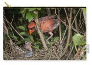 Northern Cardinal At Nest Carry-all Pouch