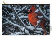 Northern Cardinal In Winter Carry-all Pouch