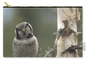 Northern Hawk Owl In The Spring Alaska Carry-all Pouch
