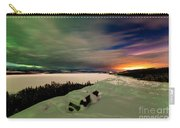 Northern Lights And City Light Pollution Night Sky Carry-all Pouch