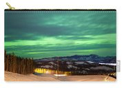 Northern Lights Aurora Borealis Over Rural Winter Carry-all Pouch