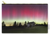 Northern Lights Over Foster Covered  Bridge Cabot Vt Carry-all Pouch