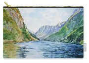 Norway Fjord Carry-all Pouch by Irina Sztukowski