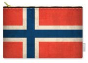 Norway Flag Distressed Vintage Finish Carry-all Pouch