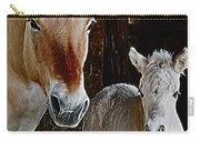 Norwegian Fjord Horse And Colt Digital Art Carry-all Pouch