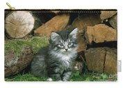 Norwegian Forest Kitten Carry-all Pouch