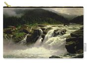 Norwegian Waterfall Carry-all Pouch by Karl Paul Themistocles van Eckenbrecher