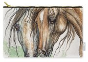 Nose To Nose Watercolor Painting Carry-all Pouch