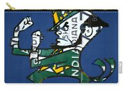 Notre Dame Fighting Irish Leprechaun Vintage Indiana License Plate Art  Carry-all Pouch by Design Turnpike